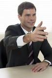 Businessman ready to shake hands Stock Photos
