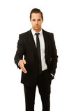 Businessman ready to shake hands Royalty Free Stock Image