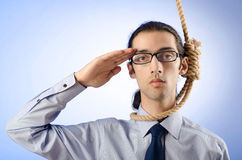 Businessman ready to  suicide Stock Image
