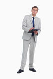Businessman ready to take notes Royalty Free Stock Photo