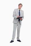 Businessman ready to take notes Royalty Free Stock Photo