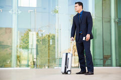 Businessman ready to travel Stock Photos