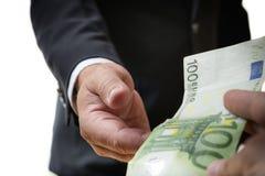 Businessman receives bill Stock Photos