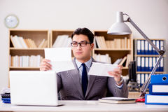 The businessman receiving letter envelope in office Royalty Free Stock Photography