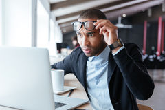 Businessman receiving negative news in the office Royalty Free Stock Image