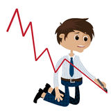 Businessman recession Royalty Free Stock Images