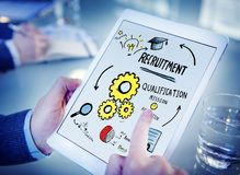 Businessman Recruitment Digital Devices Searching Concept Stock Photo