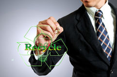 Businessman with recycle concept Royalty Free Stock Photo