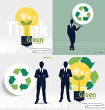 Businessman and Recycle symbol. Vector symbol on the packaging,. Vector Illustration Royalty Free Stock Photography