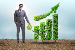 The businessman in recyling sustainable business concept Royalty Free Stock Images