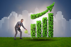 The businessman in recyling sustainable business concept Stock Photos