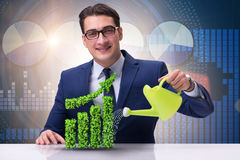 The businessman in recyling sustainable business concept Stock Image