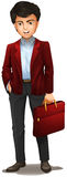 A businessman with a red attache case Stock Image