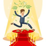 Businessman on red carpet Stock Photo