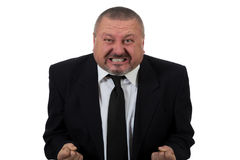 Businessman is red faced and very angry Stock Photos