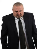 Businessman is red faced and very angry Royalty Free Stock Photos