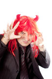 Businessman with red hair. Costume. Royalty Free Stock Photos
