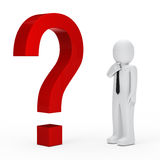 Businessman red question mark Royalty Free Stock Photography