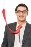 Businessman with red tie Royalty Free Stock Photo