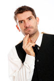 Businessman is reflecting Royalty Free Stock Image