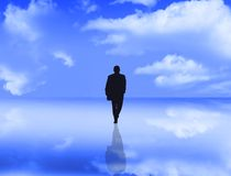 Businessman with reflection stock illustration