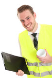 Businessman in a reflective vest Stock Images