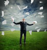 Businessman  rejoices Royalty Free Stock Photography