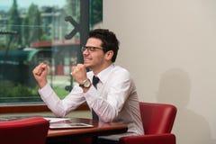 Businessman Rejoicing For His Success Stock Photos