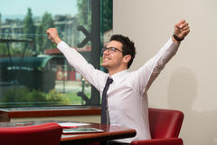 Businessman Rejoicing For His Success Royalty Free Stock Photo