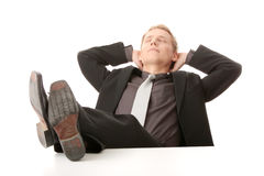 Businessman - relax Royalty Free Stock Image
