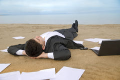 Businessman relax royalty free stock images