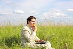 Businessman relax Stock Photos