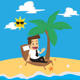 Businessman relax in the vacation Royalty Free Stock Image