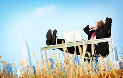 Businessman Relaxation Freedom Happiness Getaway Concept Royalty Free Stock Images