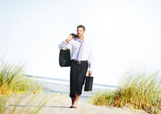 Businessman Relaxation Holiday Travel Destination Concept Stock Photo