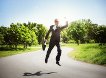 Businessman Relaxation Refreshing Success Business Concept royalty free stock photography