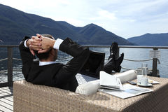 Businessman Relaxing Stock Photos