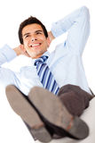 Businessman relaxing Royalty Free Stock Images