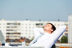 Businessman relaxing Royalty Free Stock Photo