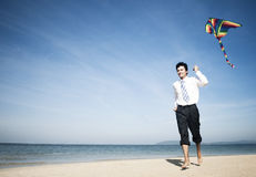 Businessman relaxing beach Holiday Concept Royalty Free Stock Photos