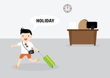 Businessman relaxing concept stock illustration