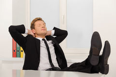 Businessman relaxing. Royalty Free Stock Images
