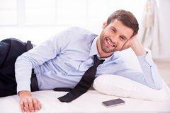 Businessman relaxing. Stock Photography