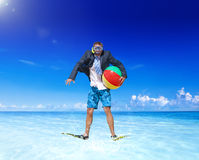 Businessman relaxing on vacation Concept Royalty Free Stock Image
