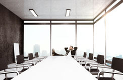 Businessman relaxing Royalty Free Stock Image