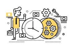 Businessman repair the clock, concept of time management, Stock Photos