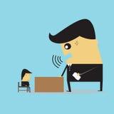 Businessman. Reprimanding Businesswoman on work stress Royalty Free Stock Image