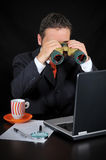 Businessman is Researching Royalty Free Stock Image