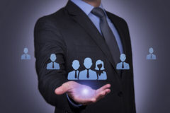 Businessman Resources Conceptual Royalty Free Stock Image