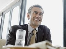 Businessman In Restaurant Royalty Free Stock Image